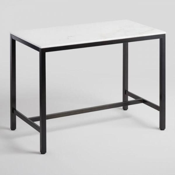 Стол белый в стиле industrial loft 07