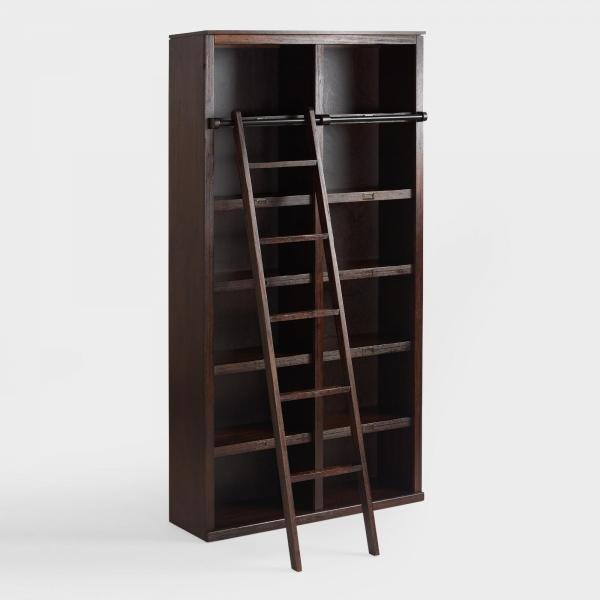 Стеллаж книжный с лестницей лофт 02