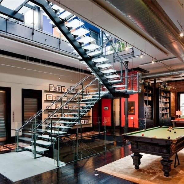 лестница  в стиле лофт 10