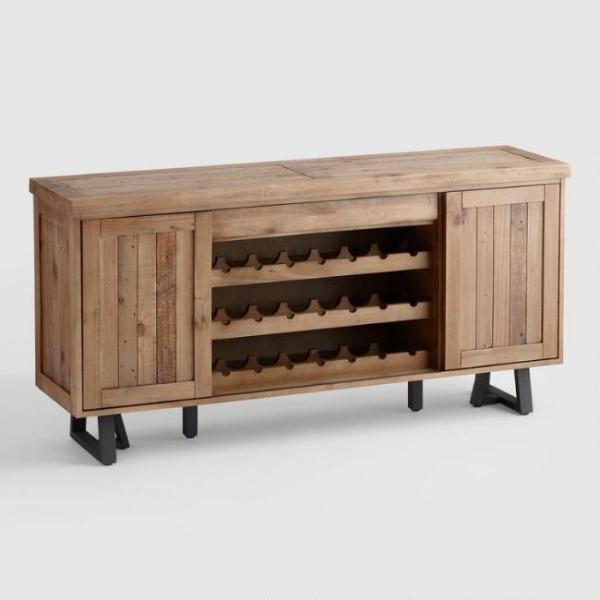 Винный шкаф в стиле лофт 03