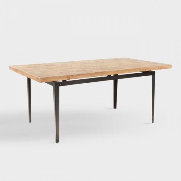 Стол из массива в стиле лофт 04