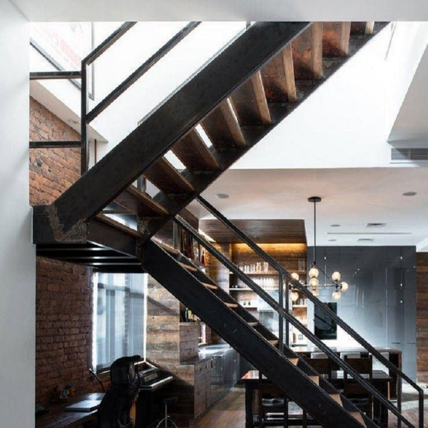лестница  в стиле лофт 02