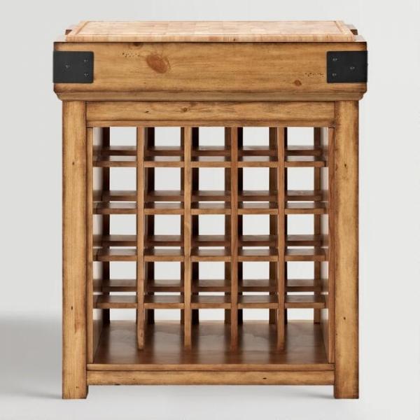 Винный шкаф в стиле лофт 02