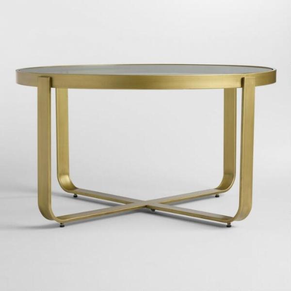 Журнальный столик стеклянный лофт 03