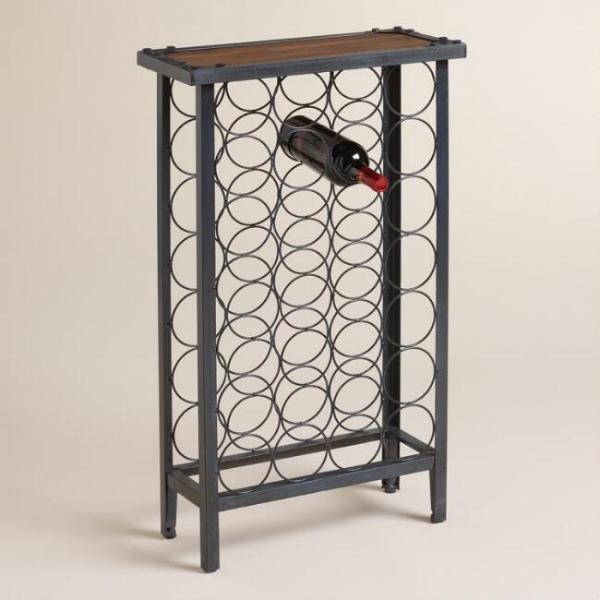 Винный шкаф в стиле лофт 01