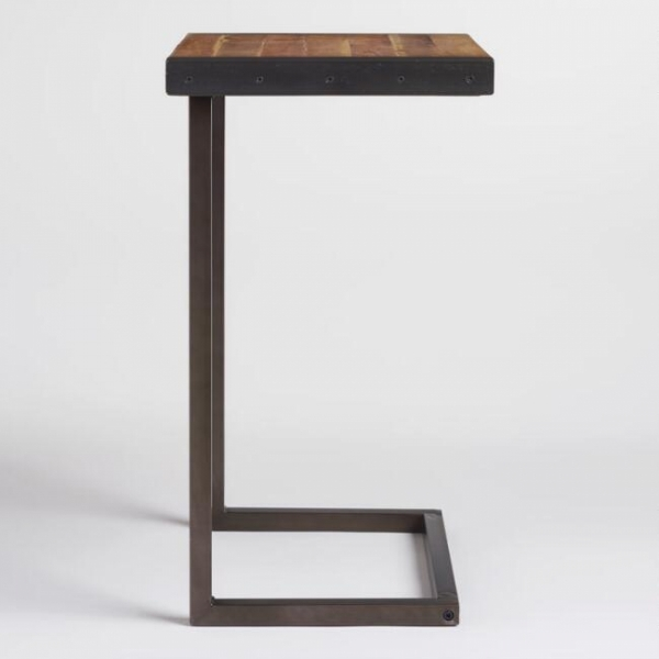 Журнальный столик из профиля лофт 10