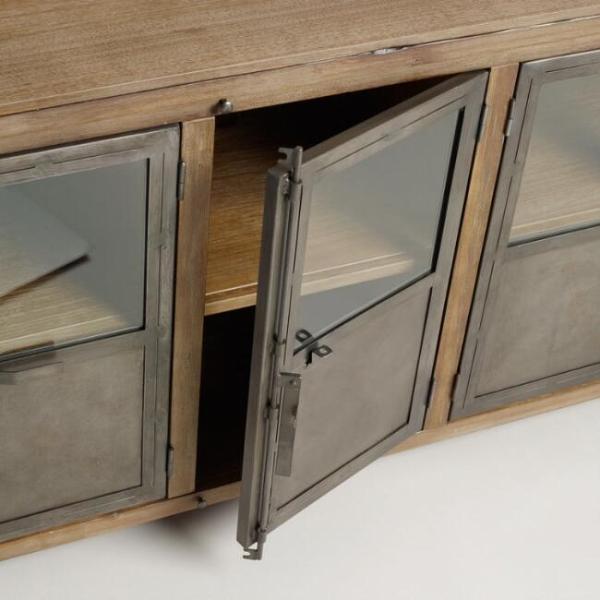 Шкаф в металле в стиле лофт 02