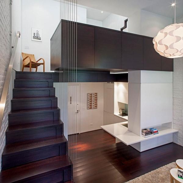 лестница  в стиле лофт 05