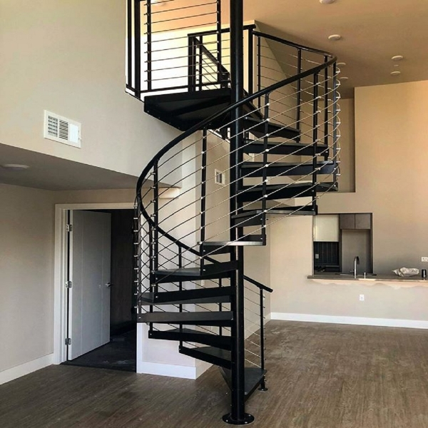 лестница винтовая  в стиле лофт 07