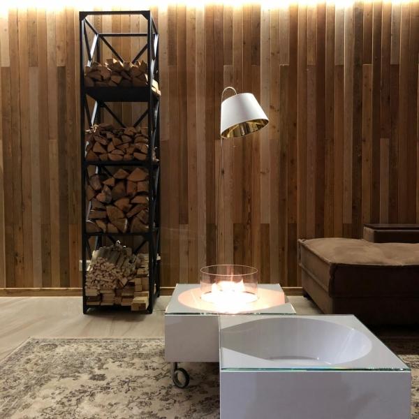 стеллаж в стиле лофт для дров
